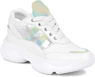 Creattoes Women and Girls Casual Sneakers Transparent Trending Model Shoes Walking
