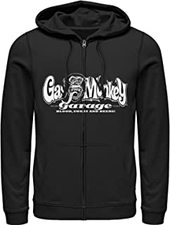 Gas Monkey Men's Blood, Sweat, and Beers Zip Up Hoodie