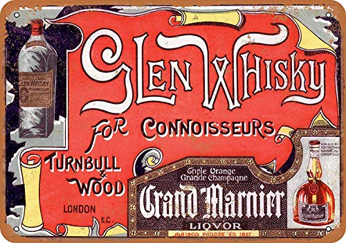 HALEY GAINES Glen Whiskey en Grand Marnier muur Tin Tekens Decor Metalen Plaques Waarschuwing Notice IJzeren Schilderen Voor Bar Koffie House keukens Badkamers Garages 20 * 30cm