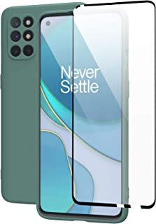 Case for Oneplus 8t Cover with Oneplus 8t Tempered Glass Screen Protectors, Shockproof Anti-Scratch Soft TPU Bumper Silico...
