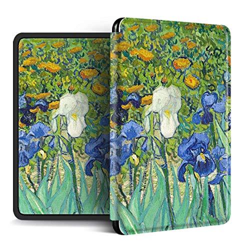 Monet Óleo Estilo Cubierta para Kindle Papel Blanco 4 Kpw4 Cajas para Kpw4 10Th Anti-Dust Silicon Cover para Kindle 2019, Verde1, para No. J9G29R
