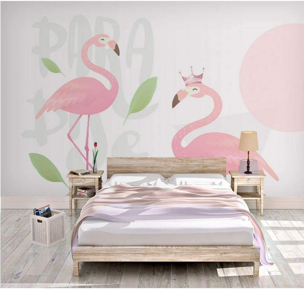 Pbldb Removable peelable Easy-to-use Max 60% OFF 8D Tropical Carto 3D Flamingo Pink Bird
