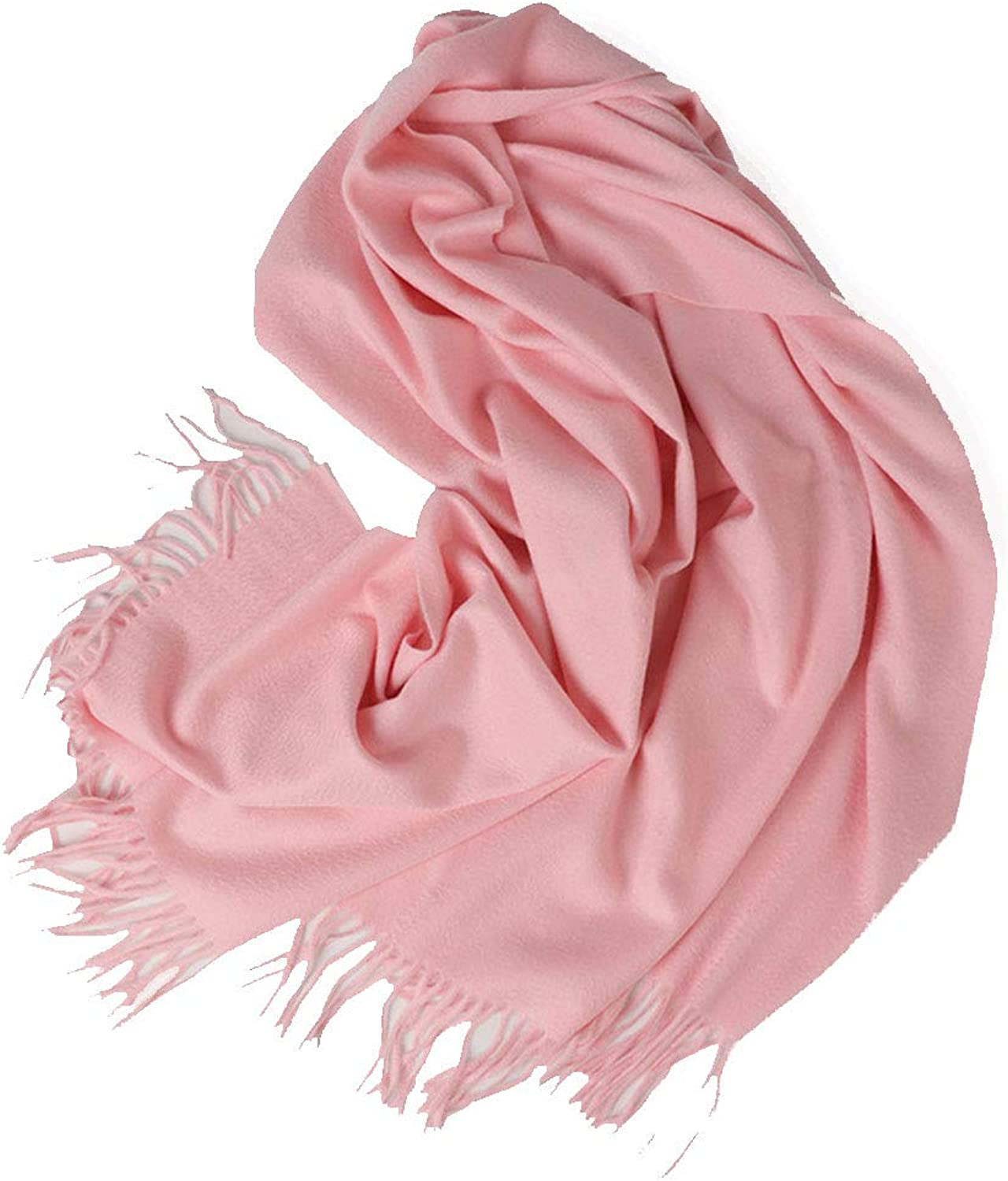 HUIFANG Cashmere Scarf Autumn and Winter Water Ripple Cashmere Scarf Ladies Shawl Tassel Thickening Long Increase Shawl 70  200cm A (color   Pink1, Size   70  200cm)