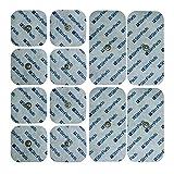 """StimPads Electrodos para Compex*, Promopack con 12 electrodos (4 electrodos 50x100mm """"UN Snap"""" y 8 electrodos 50x50mm). ¡Ahorra un 50% en comparación con los Originales!"""