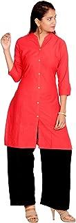 Prateek Exports Women's Rayon Printed Straight Kurti Kurta with palazzo