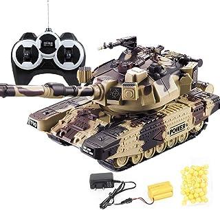 1:24 Simulation T90/M1A2 Remote Control Profession Battle Tank Model Strong Horsepower All Terrain Metal Track RC Tank Rec...