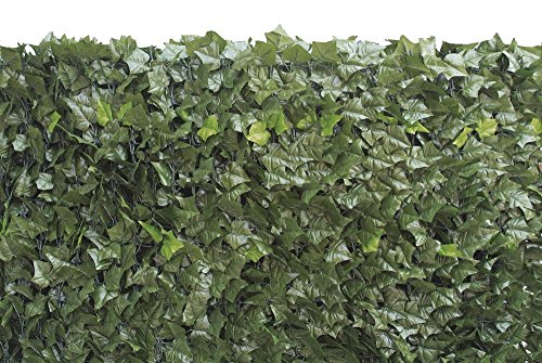 Floralcraft Artificial Ivy Leaf Hedge Roll Plastic Privacy Fence Screening 1m high x 3m length, Green