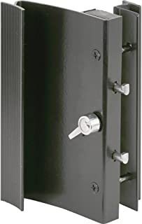 Slide-Co 14183-B Sliding Door Handle Set, Black Aluminum