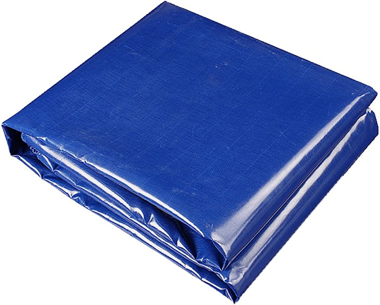 bluee Tarpaulin PVC Knife Cloth rain Cloth Waterproof Sunscreen Tarpaulin Sticky Steam Truck Tarpaulin Canvas, Thickness 0.5mm, 480 g m2, 11size Choice