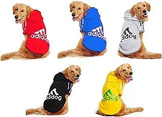 3c2748b2f706 Doqi adidog Large Dog Warm Hoodies Coat Clothes Sweater Pet Jumpsuit Puppy T -Shirt Warm