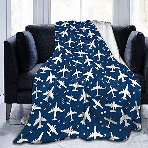 GHYUIPP, coperta morbida e calda, leggera e calda flanella + 100% fibra di poliestere superfin Bye Bye, super morbida, adatta per adulti o bambini, divano o letto