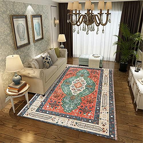alfombras de habitacion juvenil la alfombra Alfombra retro de terciopelo de cristal Alfombra rectangular decoración de la sala de estar resistente a la mancha camas modernas 160X200CM 5ft 3'X6ft 6.7'