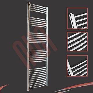 500 mm (w) x 1800 mm (h) - Cromo Curvado Radiador toallero horizontal Diámetro : 22 mm, Bar Modelo: 4 + 5 + 6 + 7 + 11