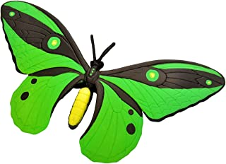 Wild Republic 20765 Butterfly Rubber Animal, Green/Black, 20 cm