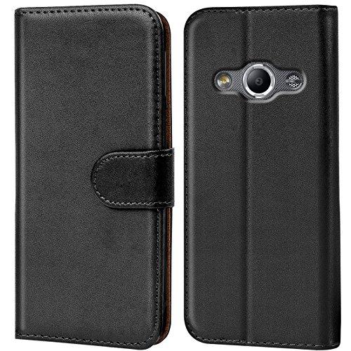 CoolGadget Klapphülle kompatibel mit Samsung Galaxy XCover 3 Tasche, 360 Grad Rundumschutz Robustes Etui aus Kunstleder, Galaxy XCover 3 Schutz Hülle - Schwarz