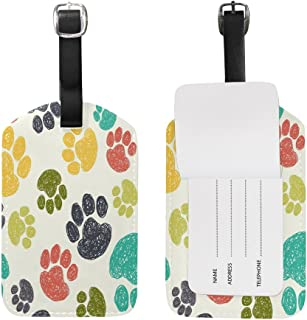 Use4 Funny Paw Print Luggage Tags Travel ID Bag Tag for Suitcase 1 Piece