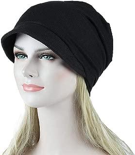 iMaySon New Women's Winter Soft Warm Knit Visor Brim Cap Beanie Hat with Plush Lining