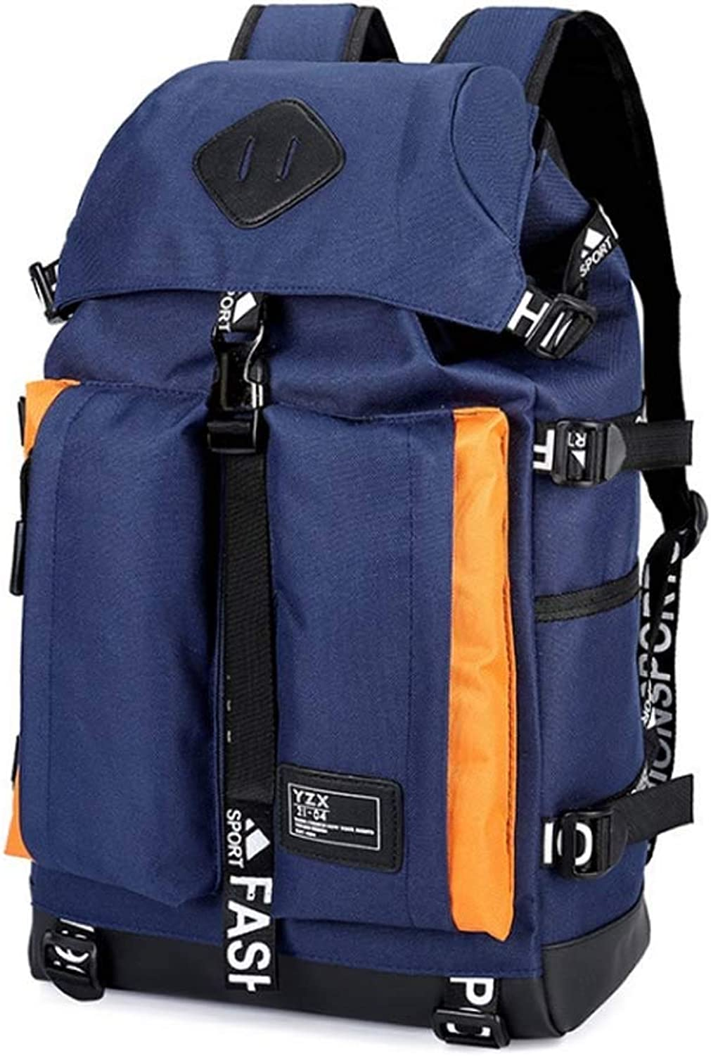 Climb Backpack Backpack, 35L Casual Men's Computer Backpack Computer Backpack Outdoor Travel Bumper Mouth Bag Large Capacity Sports (color   Darkblueee)