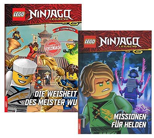 AMEET Lego NINJAGO Misiones para héroes + La sabiduría del maestro Wu (libro de tapa dura)