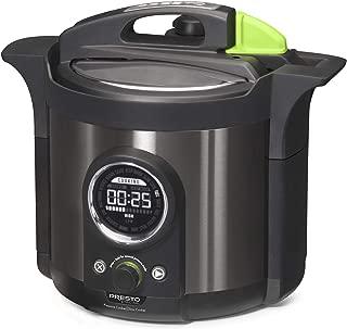 Presto 02142 Precise 6-Quart Multi-use Programmable Plus Electric Pressure Cooker, 6qt, Black Stainless Steel