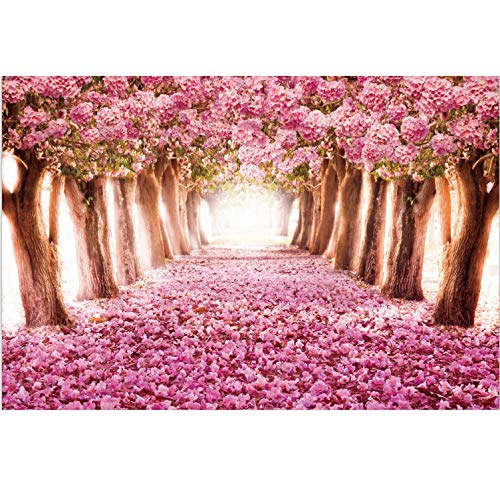 Harapu 1000 Pieces Wooden Jigsaw Puzzles for Adults Imagination Series Puzzle Toys DIY Signature Constellation Puzzles for Creative Gift Home Decor - Cherry Trees Forest Landscape Romantic Pink Sakura
