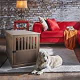 Casual Home Large Wooden Indoor Pet Crate Dog House Kennel End Table Night Stand Furniture, Taupe Gray