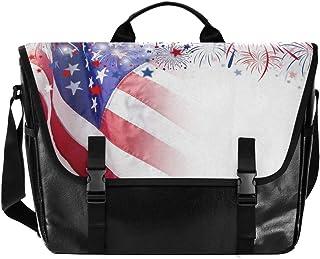 Flags Stars - Bolso de lona para hombre y mujer, diseño retro