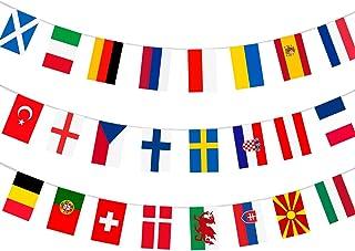 AhfuLife Europeiskt fotbollsmästerskap EURO 2021 tygflaggning, alla 24 deltagande team flaggor flaggor flaggor för trädgår...