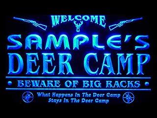 ADVPRO tu-tm Name Personalized Custom Deer Camp Big Racks Bar Beer Neon Sign