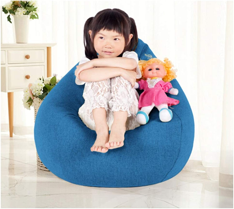 precio razonable TongN-Sillones Salud Infantil Infantil Infantil Lazy Couch Tatami Mini Bean Bag Salón Dormitorio Balcón Linda Tela Infantil Cómoda Silla 50 × 70 cm (Color   azul)  suministro directo de los fabricantes
