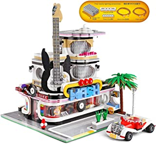 YESHIN Guitar Shop Building Kit with Led Light Set Building Blocks Bricks DIY Collection Model Best Birthday Gifts for Kids (2168PCS)
