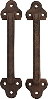 Iron Pull Handle for Doors Set of 2 Rustic Style for Barn Doors, Gates and More