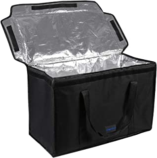 """cherrboll Commercial Grade Food Delivery Bag, Premium Insulation Thermal Carrier for Uber Eats, Restaurant Catering Service, Keep Food Hot and Cold - 23"""" x 14"""" x 15"""""""