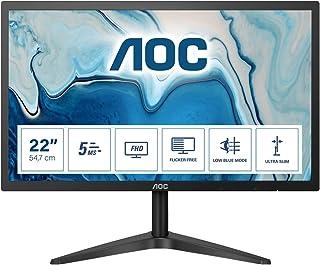 AOC 21.5 Inch LED Full HD (1920×1080) monitor, AOC office monitor (VGA, HDMI) 22B1H – Black