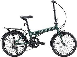 EuroMini ZiZZO Heavy Duty-300 lb. Load Limit - Forte 29 lbs Folding Bike-Lightweight Aluminum Frame, Genuine Shimano 7-Spe...