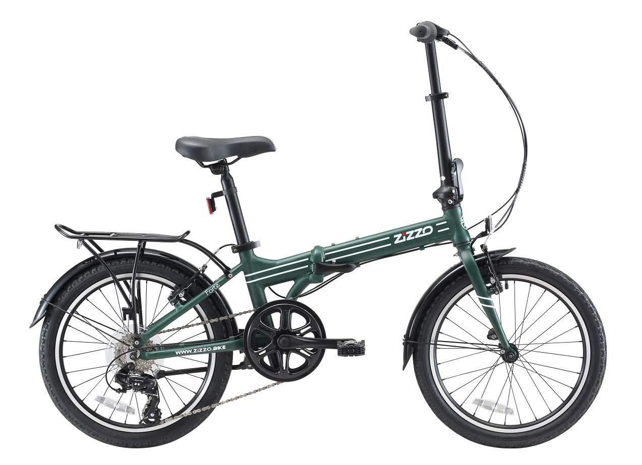 EuroMini ZiZZO Heavy Duty Forte 28lb Folding Bike-Lightweight Aluminum Frame Genuine Shimano 7-Speed 20