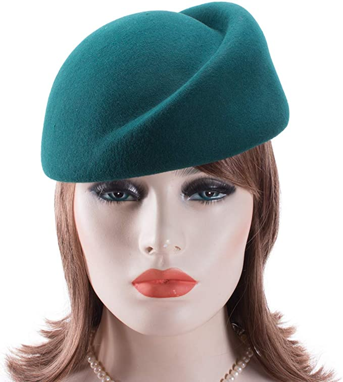 1950s Women's Hat Styles & History Lawliet Womens 100% Wool Hostess Pillbox Hat Millinery Fascinator Base A137  AT vintagedancer.com