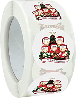 """Stickers Roll Sticker Christmas Stickers Labels Roll 1"""" inch Round Christmas Tags Stickers 500 Adhesive Xmas Stickers for ..."""