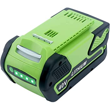 Elefly 6000mAh 40V Lithium Battery Replacement for GreenWorks 40V Battery 29472 29462, Compatible with GreenWorks 40V G-MAX Power Tools 29252 20202 22262 25312 25322 20642 22272 27062 21242