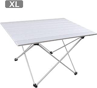 TRIWONDER アウトド 折りたたみ テーブル ロールテーブル キャンプ バーベキュー用 机 アルミ製 フォールディングテーブル コンパクト 軽量 専用収納袋付