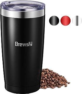 Brewsly Termo Cafe 900ml, 6 h Caliente y 12 h Frío, Botella Termica de Acero Inoxidable, Aislamiento de Vacío de Doble Pared Vaso Termico, Sin BPA, Tapa a Prueba de Fugas, para Café, Té, Negro