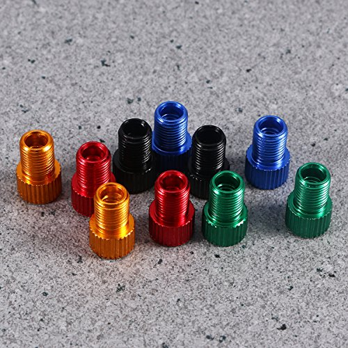WINOMO Fahrrad Ventil Adapter 10 Stücke Aluminium PRESTA SCHRADER Konverter Auto Fahrrad Schlauchpumpe Kompressor Werkzeuge - 5