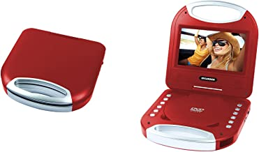 Sylvania SDVD7049 7-Inch Portable DVD Player with Handle, Red (Certified Refurbished)