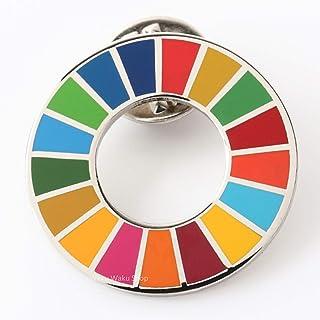 国連ガイドライン対応 SDGs ピンバッジ バッチ バッヂ 1個からまとめ買いまで (平らタイプ1個)