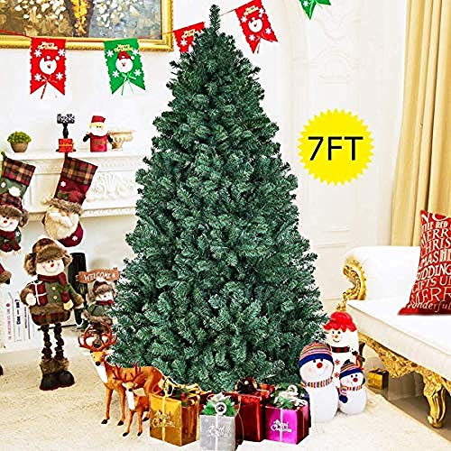 Shelves Christmas Tree Pop Up Easy to Open and Store Premium Artificial Xmas Tree with Metal Stand Xmas Decorations and Gift (6FT/1.8M) Size:5FT/1.5M Flower Pot Rack (Size : 7FT/2.1M)-6FT/1.8