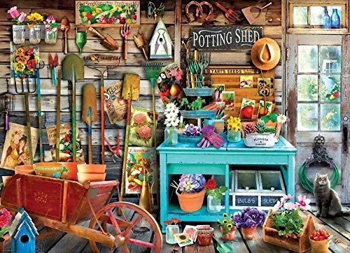 Potting Shed 1000 Piece Jigsaw Puzzle - Collectors Edition Adults Kids Toy