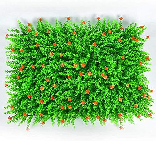 ANyun Planta artificial de 40 x 60 cm, paneles de cribado de setos, valla de privacidad, para decoración de plantas artificiales para interiores y exteriores 11.21 (color: B, tamaño: 4 piezas)