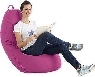 textil-home Puf - Puff Pera XL moldeable - 75x75x120 cm- Color Fucsia. Tejido PVC Alta Resistencia - Doble repunte - (Incluye Relleno Bolas Poliestireno).