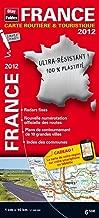 2012 france carte routiere et touristique plastifiee