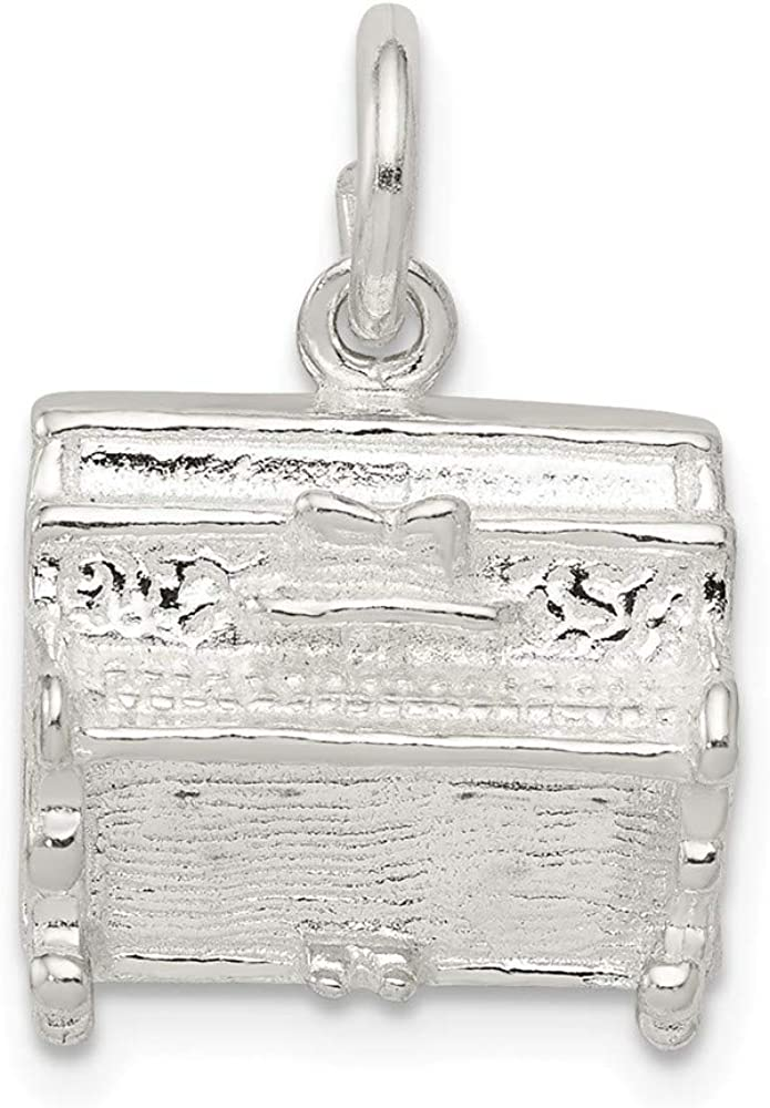 FB Jewels Solid 925 Sterling Silver Piano 0.51 Inc Charm High Limited time trial price order x 0.59
